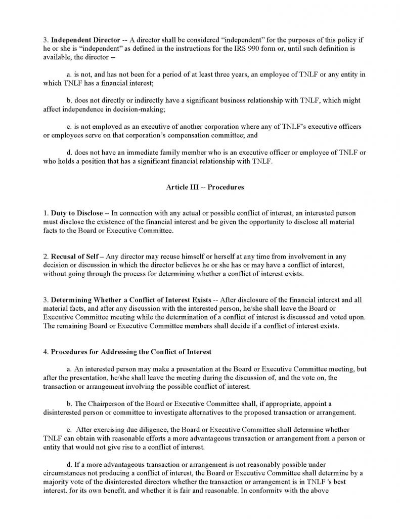conflict of interest statement form - Carnaval.jmsmusic.co